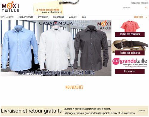 écran d'accueil du site